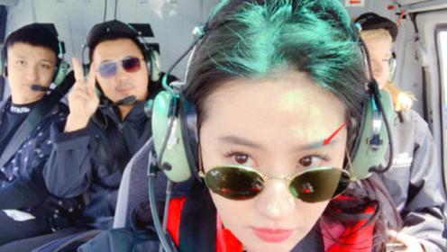 刘亦菲晒自拍照瓜子脸尖下巴 超长睫毛抢镜