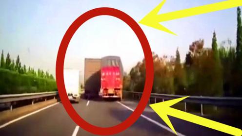 货车太愚蠢,别人都刹车了,他却另辟新径,下秒后悔还来得及吗?