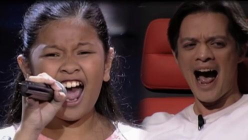 11岁女孩《好声音》唱功逆天,海豚音一出所有导师一脸懵逼!