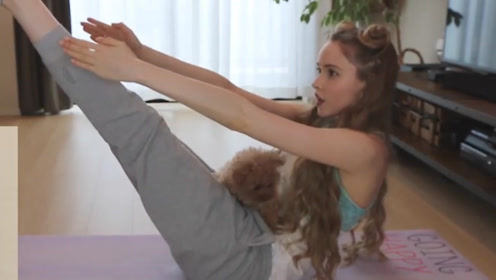 狗狗做瑜伽,你看见过么,太可爱了吧!
