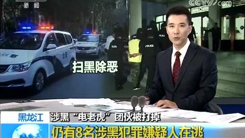 """涉黑""""电老虎""""团伙被打掉 仍有8名涉黑犯罪嫌疑人在逃"""