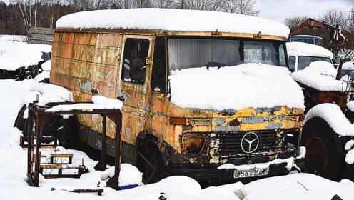 停在冰天雪里30年的奔驰,启动的那一刻,才知道啥叫德国制造