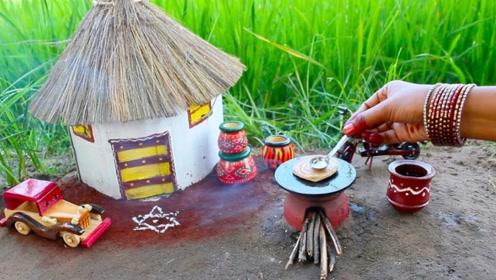 印度爆火的野炊食玩:小锅小碗都是真的,脆脆的手抓饼声音巨诱人