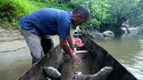 真正的老渔民都很厉害,捕鱼对于他们来说很简单,就跟玩一样
