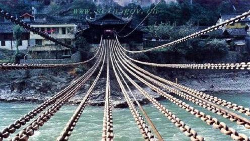 泸定桥铁索重达40多吨,300年前是如何修建的?看完钦佩不已