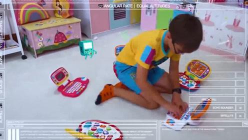 萌娃小可爱5台学习机一起使用,手跟不上脑子的运转,要晕了!