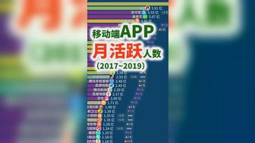 手机APP月活人数排行榜可视化