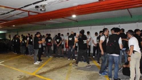 反港警黑衣人跑到澳门非法集会 澳门警方迅速出动当场带走7人
