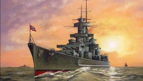 德国太疯狂!14万吨巨舰装备超级大炮,一炮打爆地下弹药库