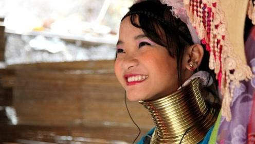 泰国奇葩的民族,女性以脖子长为美,一生要套25个铜项圈!