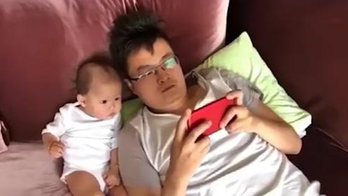 这位家长心可真大呀,你是不是认为打游戏要从小培养呀