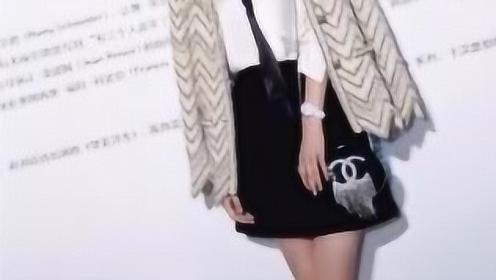 佟丽娅最新大片,白衬衫搭配黑色短裙,上衣外披,足足的女王范