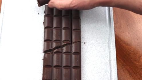 为何这块巧克力吃不完?老外亲自展示,结果太神奇了
