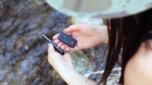 野外必备EDC,车钥匙大小的触控手电,搭配航空铝打造的刀具