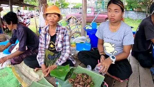 看看老挝集市都卖什么?很多东西都是第一次见!