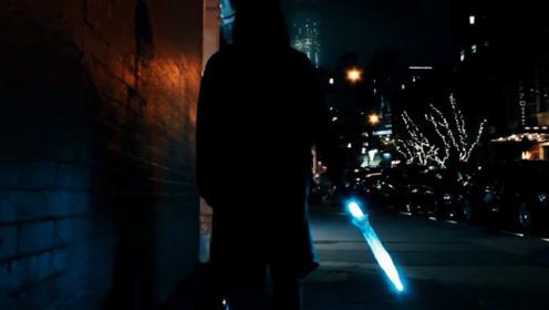 会发光的雨伞,按下开关秒变激光剑,撑着伞才知道有多炫酷