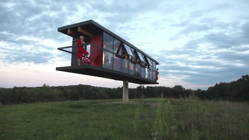 世界上最尴尬的房子,必须2个人保持平衡,少一个人就会倒