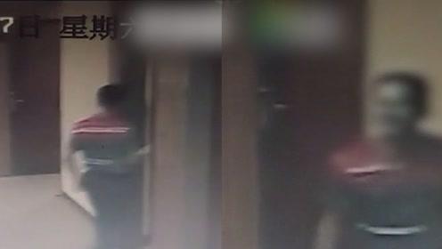 女孩独自住酒店疑遭工作人员猥亵 监拍事发后该员工微笑走出房间