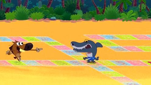 鲨鱼哥和美人鱼:鲨鱼哥和zig玩游戏,zig一直耍赖!