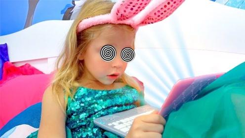 女儿沉迷手机,老爸想出各种办法引诱却失败,无奈直接关掉电源!