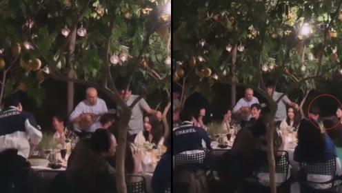 向佐郭碧婷结婚迎宾晚宴曝光,柠檬树下郭碧婷被两男人守护特幸福