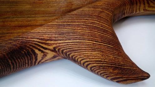 老外用没人要的木头做鲸鱼盘,灵魂画手,第一步就很精彩!