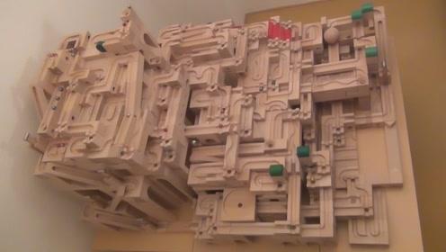 牛人再创弹珠新玩法!DIY迷宫谁能找到出口?网友:我能玩一天
