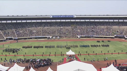 津巴布韦举行穆加贝国家悼念仪式 民众着黑装盛装出席