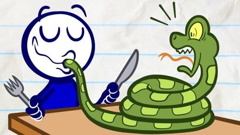 男孩误吃了蚊子,结果蚊子在他肚里活了下来,他却吞下毒蛇来驱虫