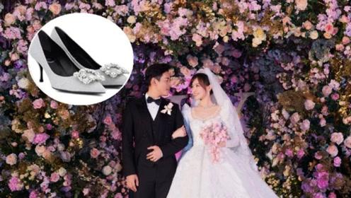 女星婚礼的婚鞋, baby真正的水晶鞋、唐嫣灰姑娘的鞋子