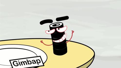 """铅笔人遇到""""邪恶""""寿司卷,死活不让他吃,还故意戏耍小蓝!"""