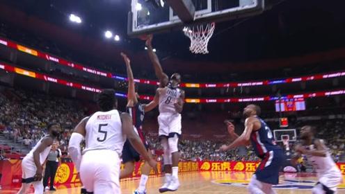 篮球世界杯巴恩斯五大镜头 无惧防守追帽抢断反击一条龙暴扣