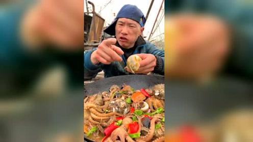 船长吃一斤一个的海螺肉,看着都过瘾!