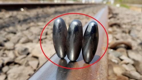 小伙把磁铁放在铁轨上,才发现自己闯了大祸,镜头记录惊险过程