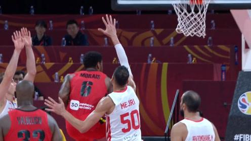 篮球世界杯五大拉杆 莫雷斯拉杆高打板塔克空中闪转腾挪
