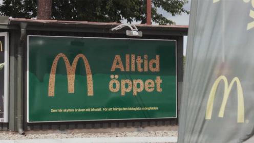 """瑞典麦当劳广告牌变身""""蜜蜂旅店"""",呼吁关注蜜蜂危机"""