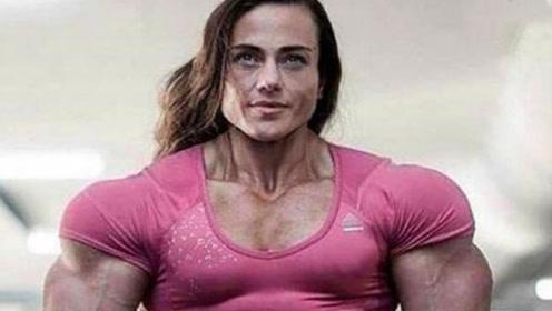 西班牙金刚芭比!肌肉拉丝比男人还壮,男生:身材不能接受!