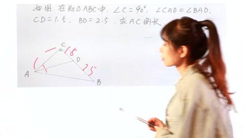 非常小巧的一道题目,告诉角平分线这个条件,辅助线呼之欲出