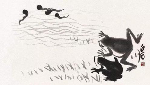 """齐白石画6只蝌蚪,竟然价格上亿,只因用了一项""""超凡画技""""!"""