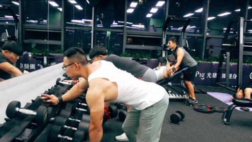 健身vlog,今天的背部训练以大重量少次数为主