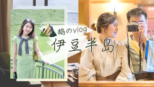 小五月VLOG:去伊豆看超美活火山,泡温泉赏月落!