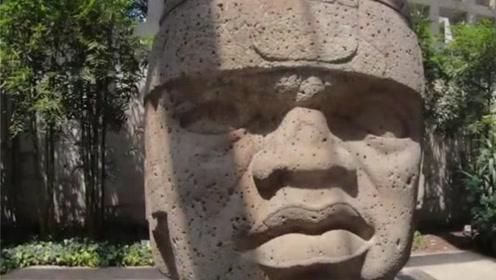 墨西哥发现巨大头像,距今已有3000多年,学者:或许来自中国