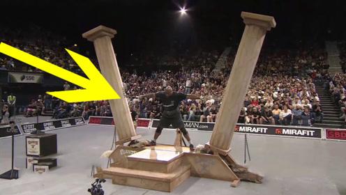 """世界上力气最""""大""""的人:手握罗马柱超一分钟,观众:大力水手!"""