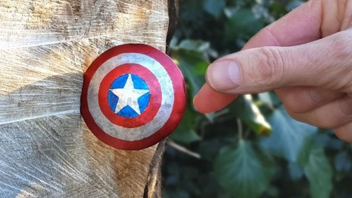 这样的美队盾牌你见过吗?老外用铁板制成,威力让人看懵