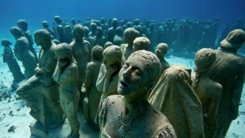"""墨西哥海底惊现""""兵马俑"""",水下几百人令人惊叹!国家重点保护!"""