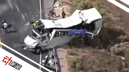 """美国警方通报""""犹他州巴士事故"""":司机打方向盘用力过度致翻车"""