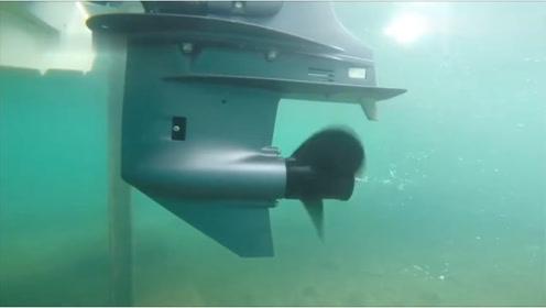 轮船启动后,实拍水中的螺旋桨的惊人变化,长知识!