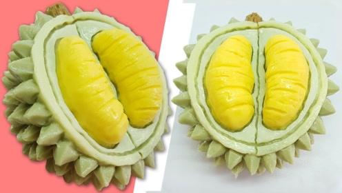 解锁果冻的新玩法:把它做成诱人的榴莲,简直是小孩子的最爱啊!