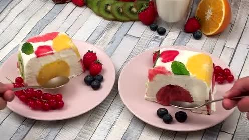 超高颜值的水果冰淇淋: