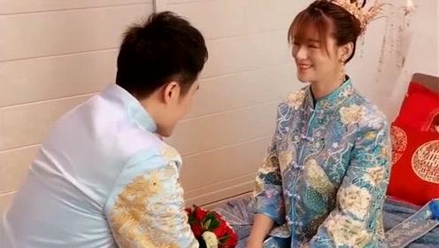 小伙婚礼来接新娘,看这猴急猴急的,网友:真爱 啊!